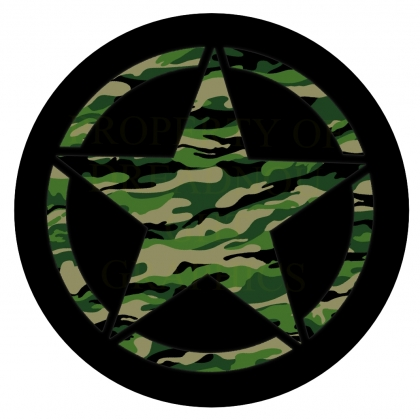 Jeep Star Green Camo Spare Tire Covers JA