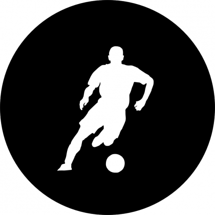 Spare Tire Cover with Soccer Player Silhouette