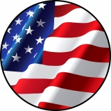 Wavy American Flag Spare Tire Cover