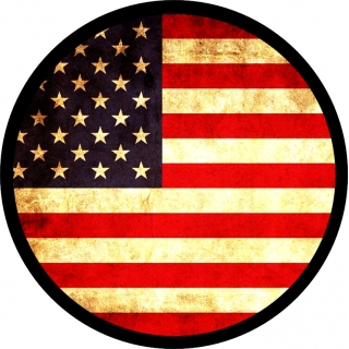 Vintage U.S. Flag Spare Tire Cover