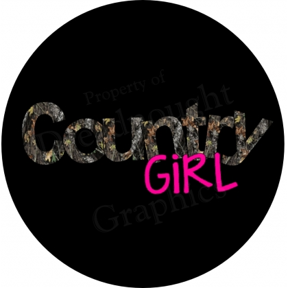 Country Girl Real Tree Camo tire cover