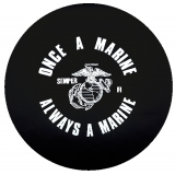 Once A Marine Always A Marine Tire Cover
