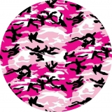 Pink Camo Jeep Spare Tire Cover