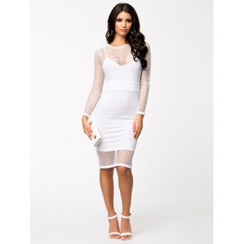 Netted Midi Dress
