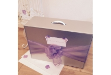 Bows Butterflies Wedding Dress Travel Box Hand Luggage.