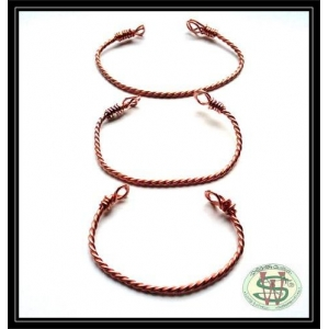 Copper Twisted Bangle - Lightweight