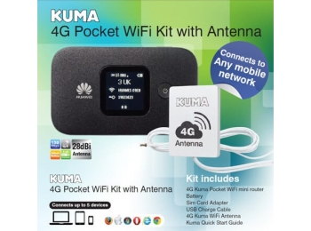 4G Campervan, Caravan, Boat, Motorhome and Truck Mobile WiFi Kit with Antenna