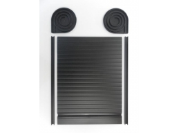 Tambour Door Face Fix Spiral Kit Matt Black Finish