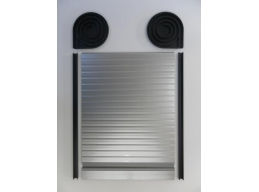 Tambour Door Face Fix Spiral Kit Silver Finish