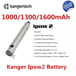 Kanger IPOW 2 1000mAh LCD Screen VV Twist Passthrough Battery with USB