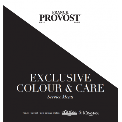Exclusive colour & Care Service Menu