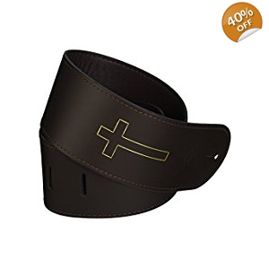LM Products 3-Inch Black or Brown Leather with Cross-Acous..