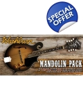 Washburn M3EK F Style Mandolin with Pi..