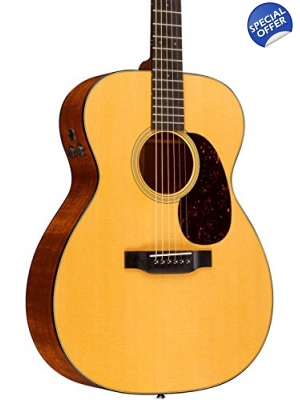 Martin 000-18E Acoustic Guitar with hard case & Aura Plus Pickup-Like New