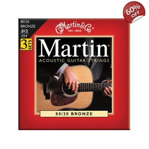 Martin M140 3 Pack Light Acoustic Guitar Strings