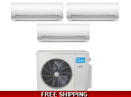 Midea 2-3 Zone 27K Mini Split Heat Pump AC up to 20.4 SEER