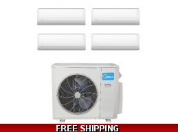 Midea 2-4 Zone 36K Mini Split Heat Pump AC by Carrier