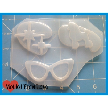 MFL Exclusive 50's Rockabilly 3 cavity Handmade Plastic Mold