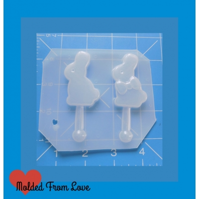 Kawaii Chocolate Bunny Pops Handmade Plastic Mold