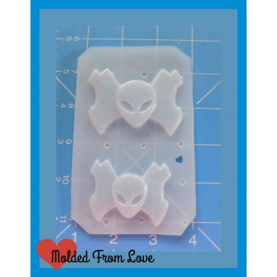 Wrapped Alien Head Candy Shapes Handmade Plastic Mold