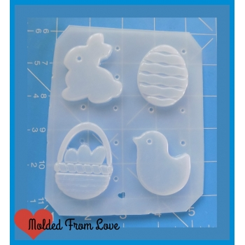 4 Cavity Easter Shapes handm..