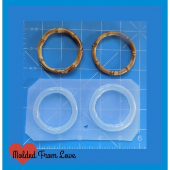 Retro Bamboo Hoop Shapes Han..