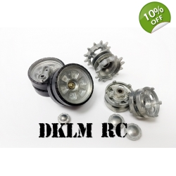 [DK] Metal Sprocket & Idler wheel set for 1/16 T..