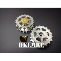 [DK] Stainless Steel Sprocket For Tamiya 1/16 Pa..