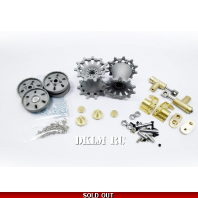 [DK] 1/16 CNC Metal idler adjuster with steel idler and sprocket for Challenger 2