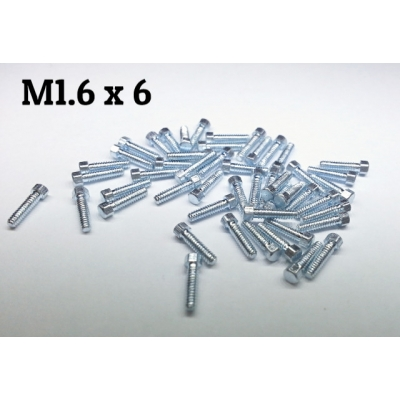 Copper made M1.6*6 hex bolt