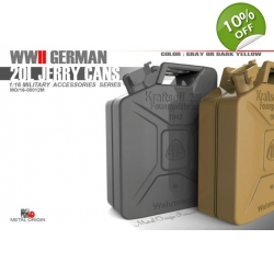 [MO] 1/16 GERMAN 20L Jerry Cans  8 Pcs
