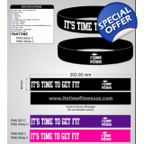 IT´S TIME TO GET FIT WRISTBANDS