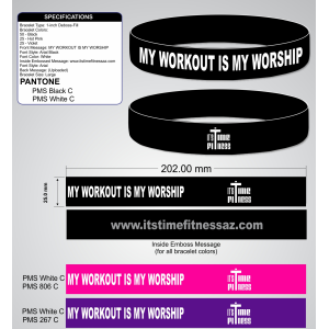 MY WORKOUT IS MY WORSHIP WRISTBAND
