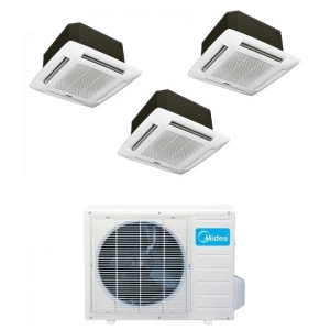 Midea 21 Seer 3x12000 Btu 3 Zone Cassette Mini Split Heat Pump AC