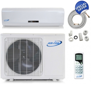 AirCon 12,000 BTU 110V 15 SEER Mini Split Heat P..