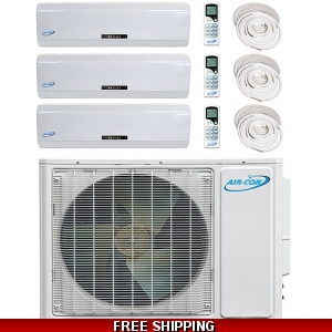 AirCon Tri Zone 3x12000 BTU 16 SEER Mini Split Heat Pump AC