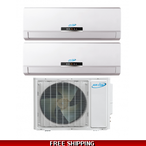 AirCon Dual Zone 9000 + 9000 BTU 22 SEER Mini Split Heat Pump AC