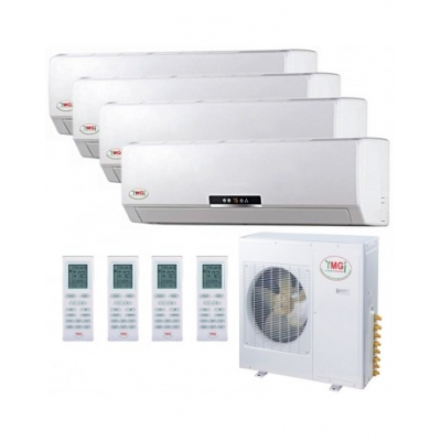 9+9+12+12K 48K YMGI Quad Zone Ductless Mini Split Air Conditioner Heat Pump 208-230V 16 SEER DC Inverter