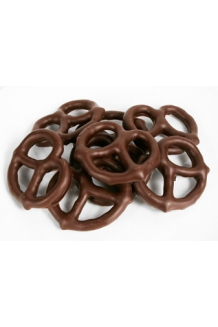 Smokey Dark Chocolate Pretzels