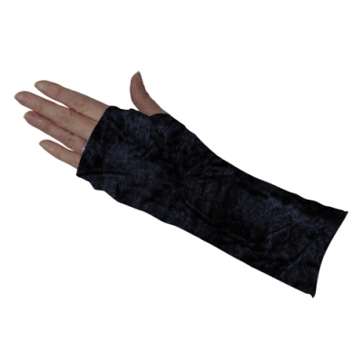 Black Crushed Velvet Short Arm Cover