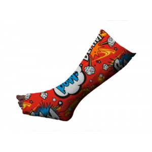 Comic Bubble Red Short Leg Cover