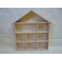 House Shape Wooden Disp..