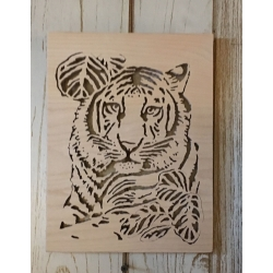Tiger wall plaque
