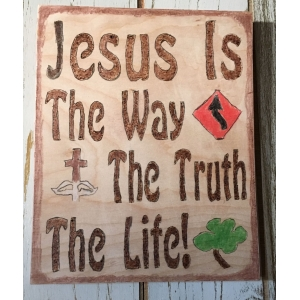 Jesus is the way wall plaque