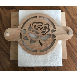 Rose outdoor napkin holder