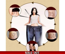 5PCS MAGNETIC SLIMMING PATCH NAVEL STICK BURNING FAT WEIGHT LOSS