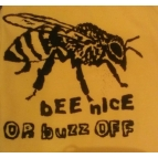 BEE NICE/BUZZ OFF t shirt Details