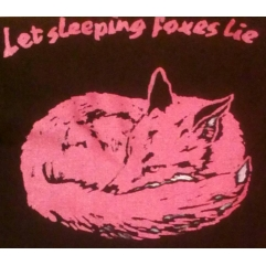 LET SLEEPING FOXES LIE tote bag