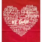 VEGAN in my HEART T shirt Details