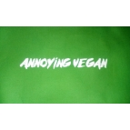 ANNOYING VEGAN t shirt Details